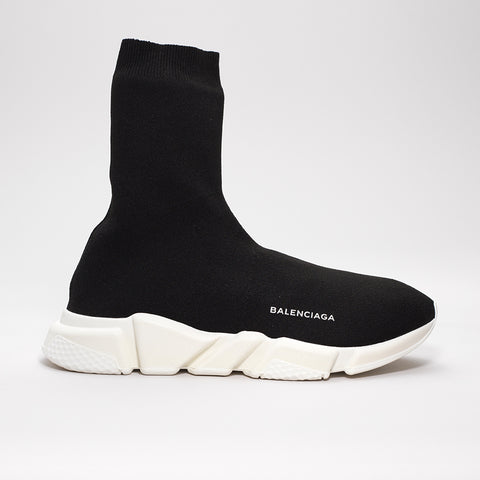BALENCIAGA SPEED TRAINER LONG BLACK/WHITE