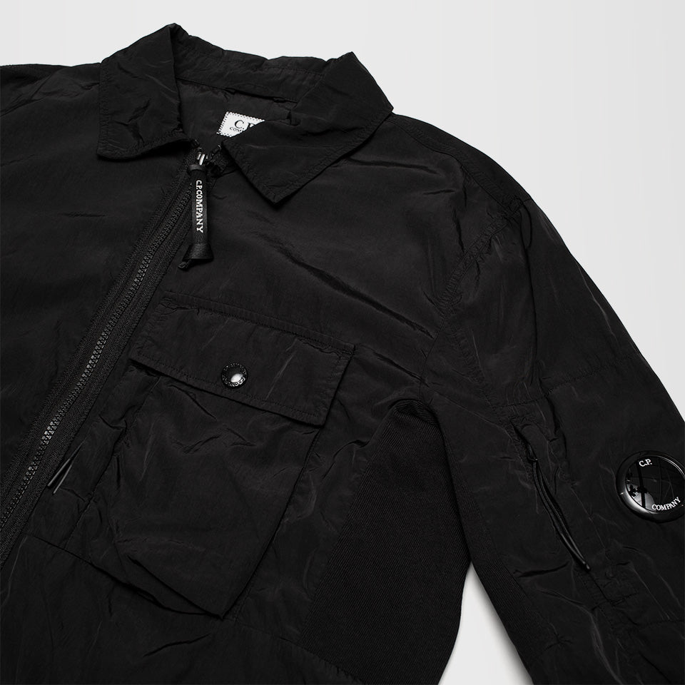 CP COMPANY FRONT POCKET OVERSHIRT BLACK