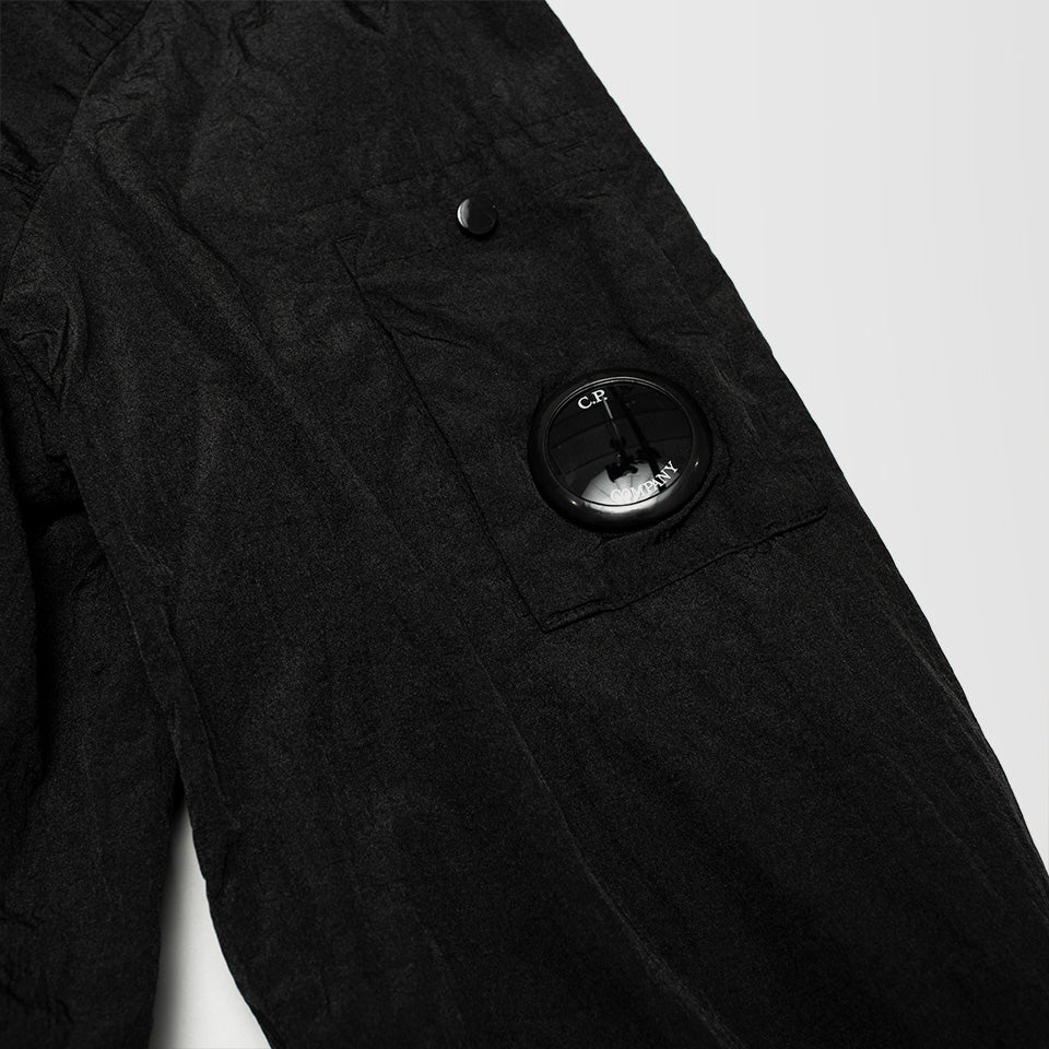 CP COMPANY ZIP UP OVERSHIRT BLACK
