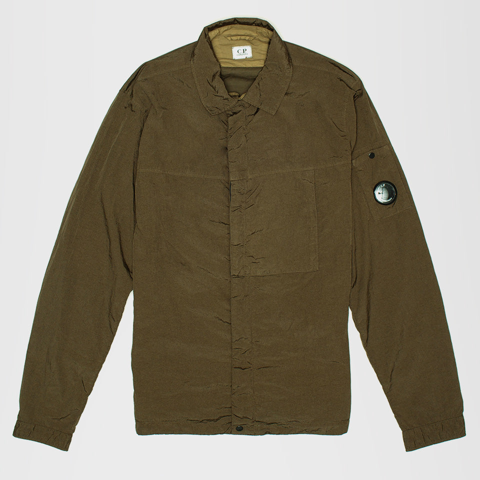 CP COMPANY ZIP UP OVERSHIRT GREEN