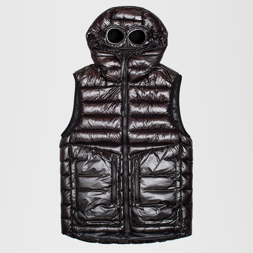 CP COMPANY HOODED GOGGLE GILET BLACK