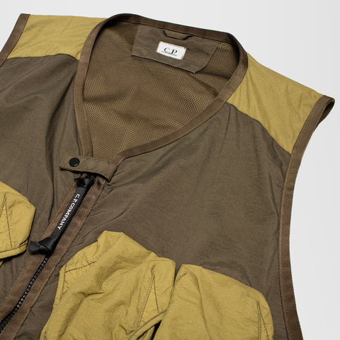 CP COMPANY UTILITY VEST IVY GREEN