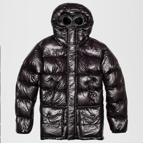 CP COMPANY HOODED PERTEX DOWN FILLED GOGGLE JACKET BLACK
