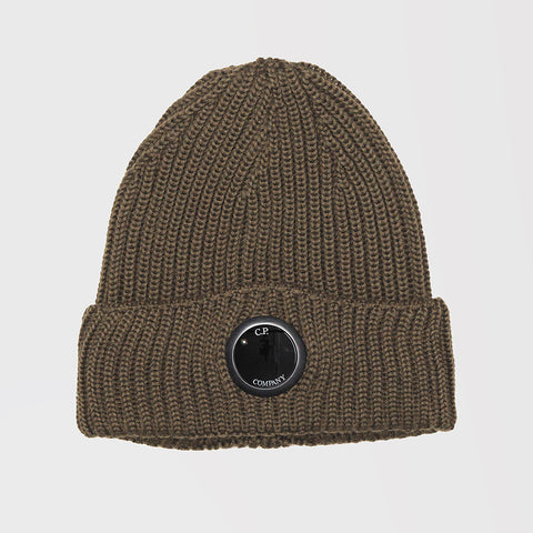 CP COMPANY BEANIE OLIVE