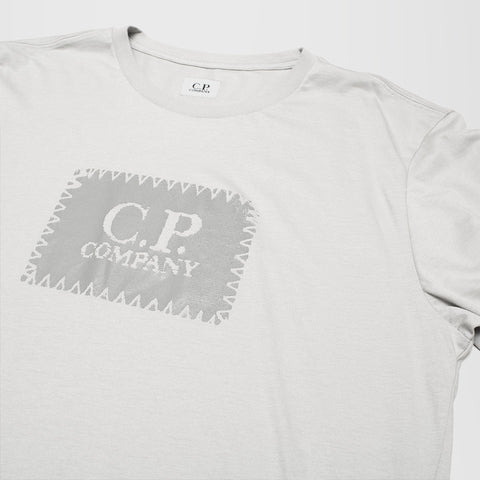 CP COMPANY LABEL PRINT T-SHIRT GREY