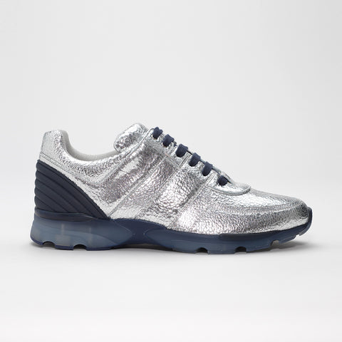CHANEL RUNNER SNEAKER CRACKED SILVER
