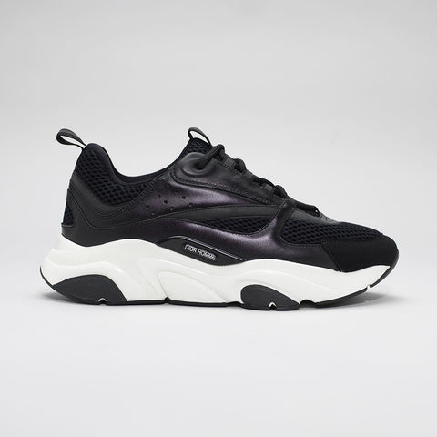 DIOR B22 CALFSKIN TRAINER BLACK/WHITE