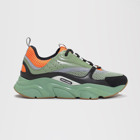 DIOR B22 CALFSKIN TRAINER GREEN/ORANGE