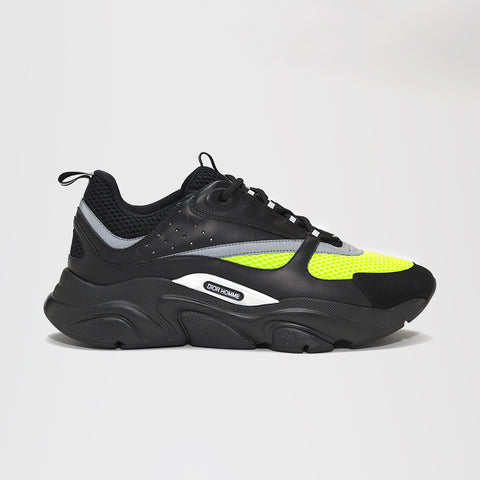 DIOR HOMME B22 CALFSKIN TRAINER BLACK/YELLOW