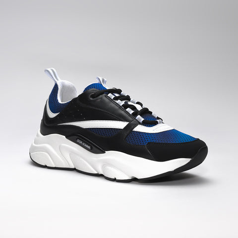 DIOR B22 CALFSKIN TRAINER BLUE/BLACK/WHITE
