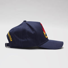 DSQUARED2 EMROIDERED BASEBALL CAP BLUE