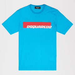 DSQUARED2 PRINT T-SHIRT BLUE