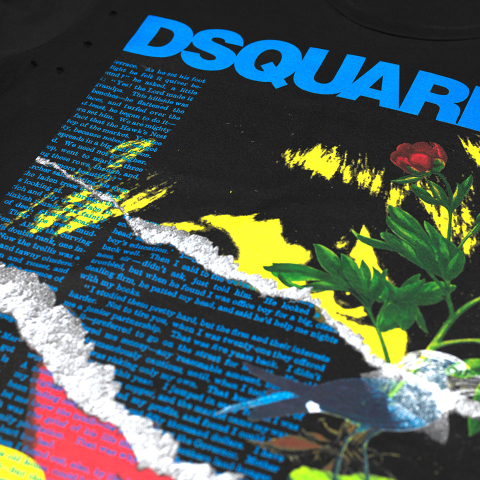 DSQUARED2 GRAPHIC LOGO T-SHIRT BLACK