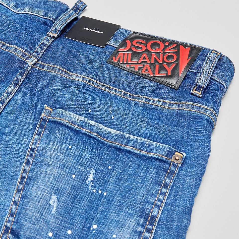 DSQUARED2 UNDER PATCH SKATER JEANS