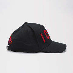 DSQUARED2 ICON BASEBALL CAP BLACK/RED