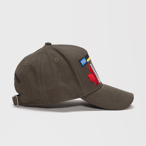 DSQUARED2 EMBROIDERED BASEBALL CAP GREEN