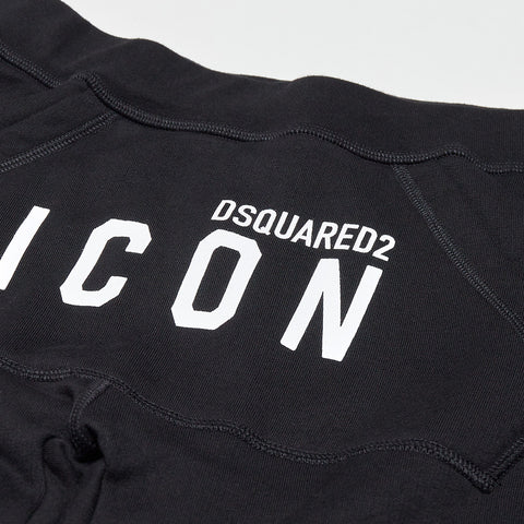 DSQUARED2 WHITE ICON LOGO JOGGING BOTTOMS BLACK