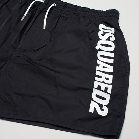 DSQUARED2 PRINT SWIM SHORTS BLACK/WHITE