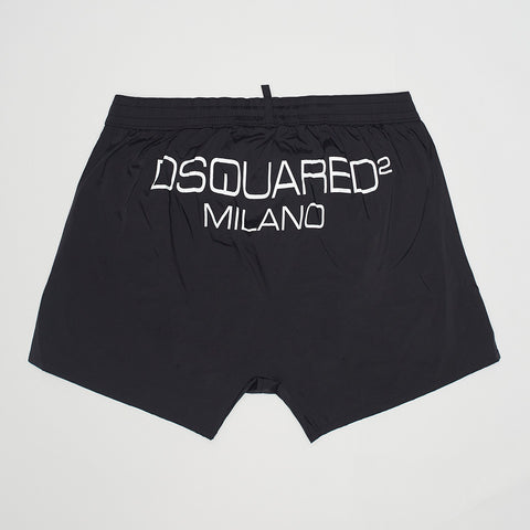 DSQUARED2 MILANO SWIM SHORTS BLACK