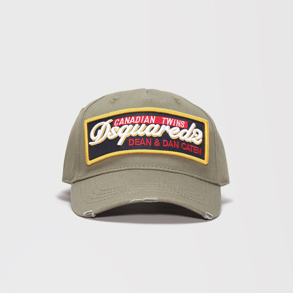 DSQUARED2 EMBROIDERED BASEBALL CAP OLIVE