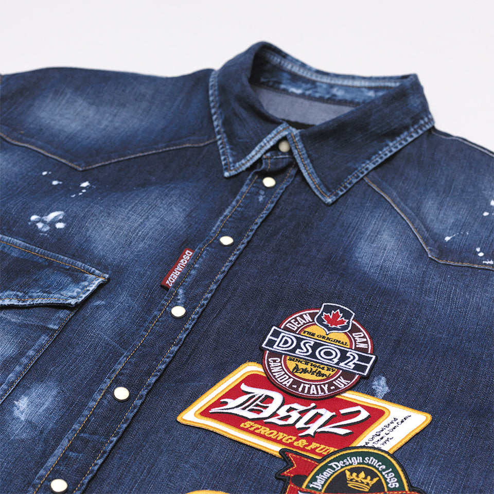 DSQUARED2 DENIM PATCH SHIRT