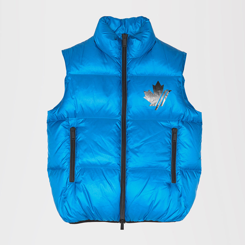 DSQUARED2 LOGO GILET JACKET BLUE