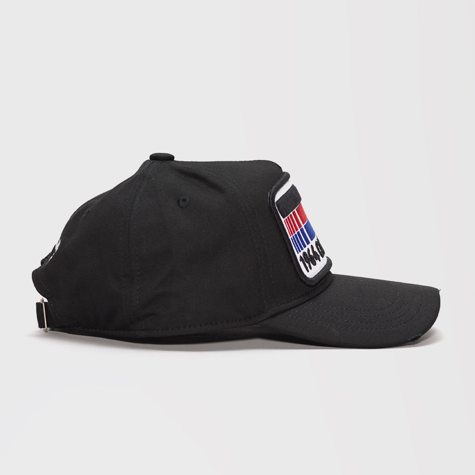 DSQUARED2 FLAG PATCH BASEBALL CAP BLACK