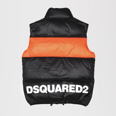 DSQUARED2 LOGO GILET JACKET ORANGE/BLACK