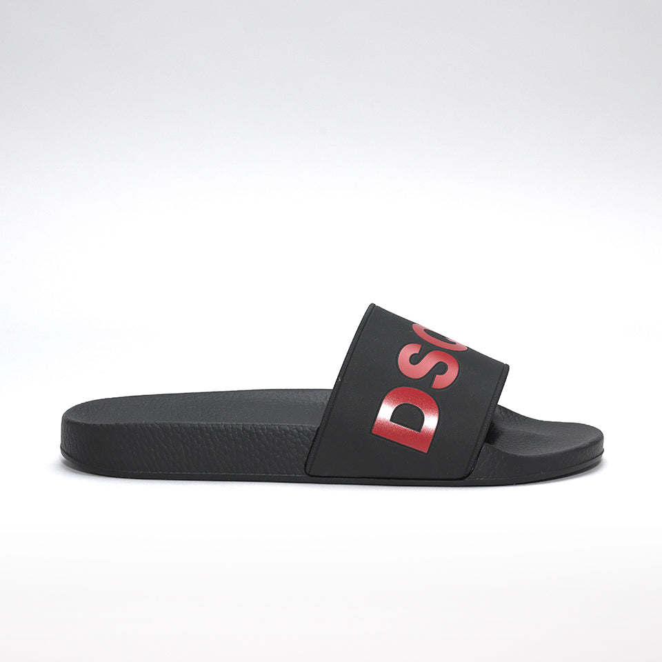 DSQUARED2 POOL SLIDES BLACK/RED