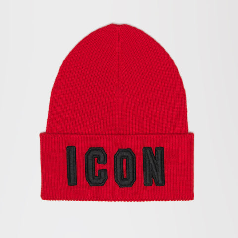 6c952d82f80 DSQUARED2 ICON SLOGAN THIN BEANIE RED