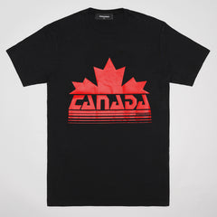 DSQUARED2 MAPLE LEAF T-SHIRT BLACK
