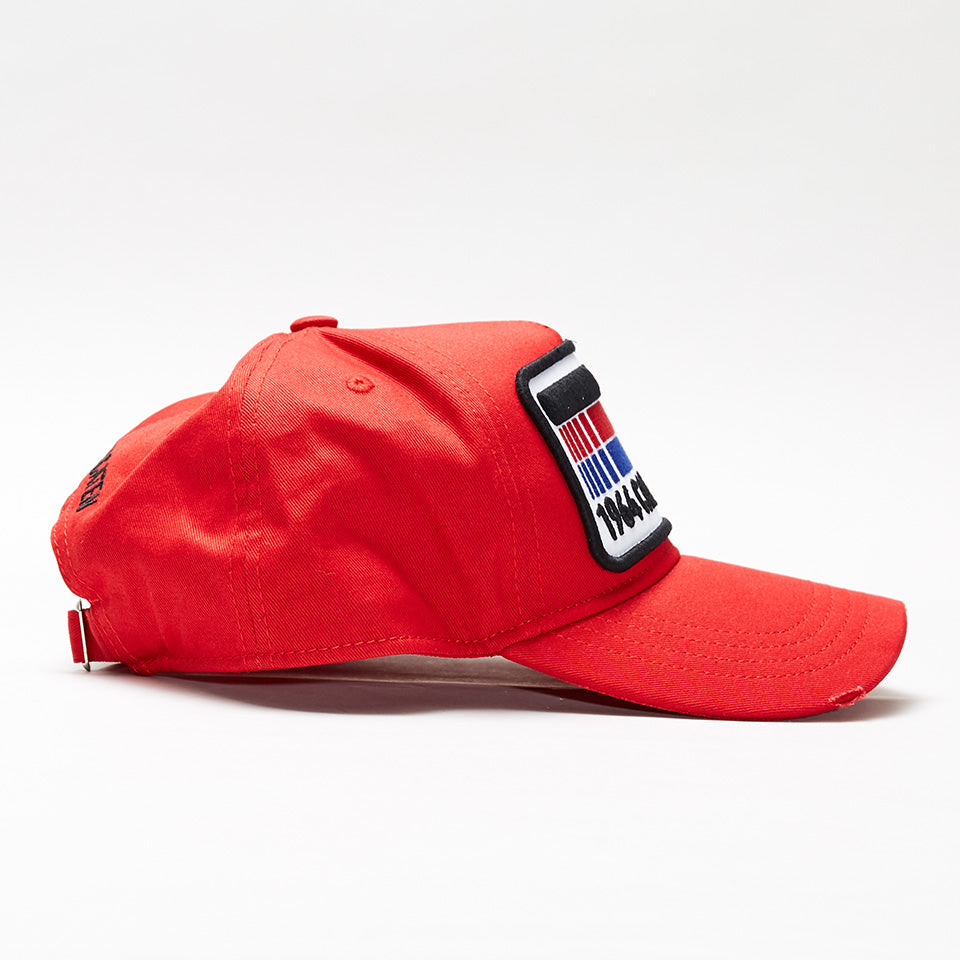 DSQUARED2 FLAG PATCH BASEBALL CAP RED