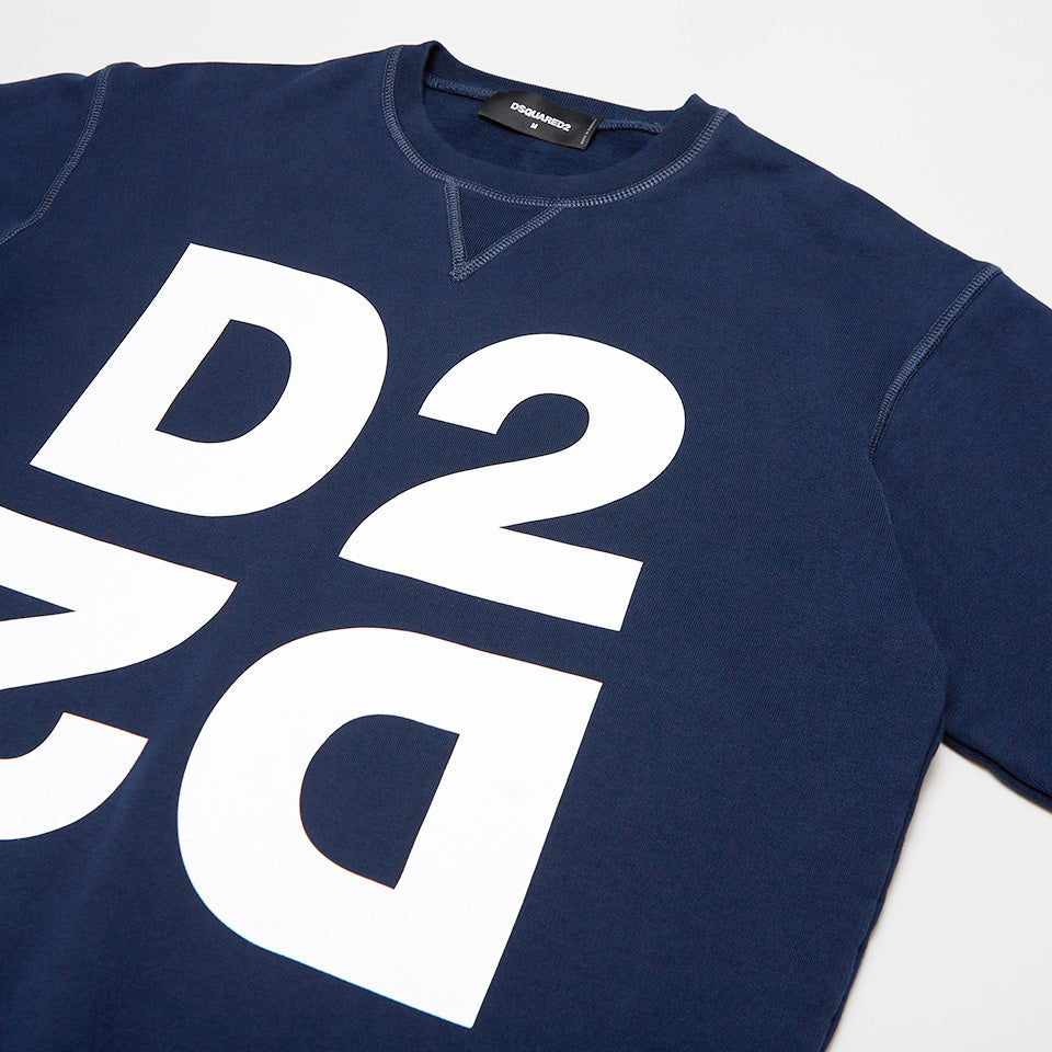 DSQUARED2 DOUBLE D2 SWEATSHIRT BLUE