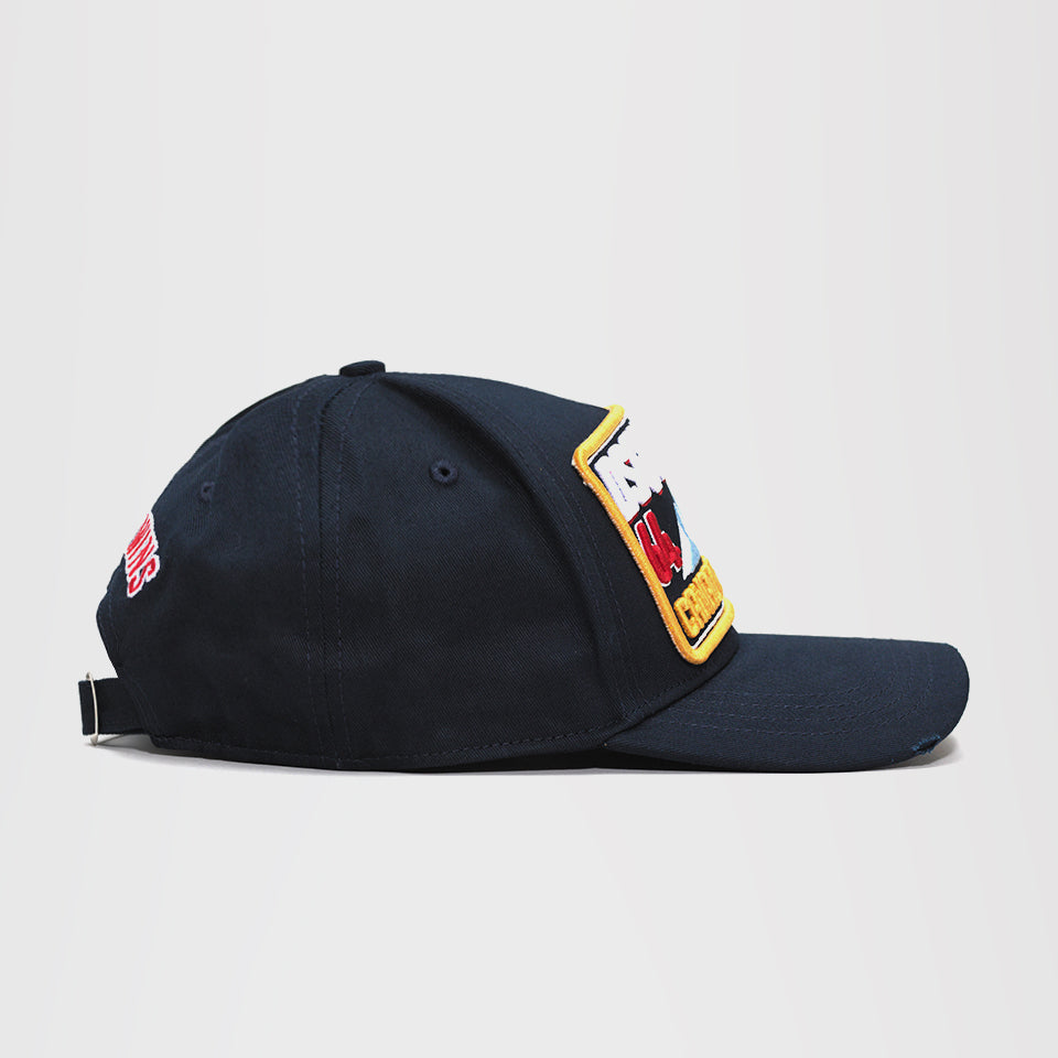 DSQUARED2 PATCH BASEBALL CAP BLUE