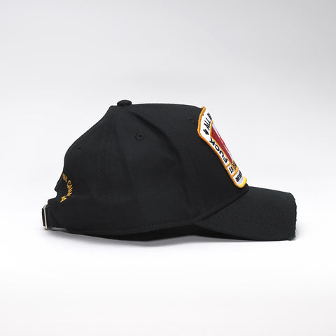 DSQUARED2 CANADIAN FLAG PATCH BASEBALL CAP BLACK
