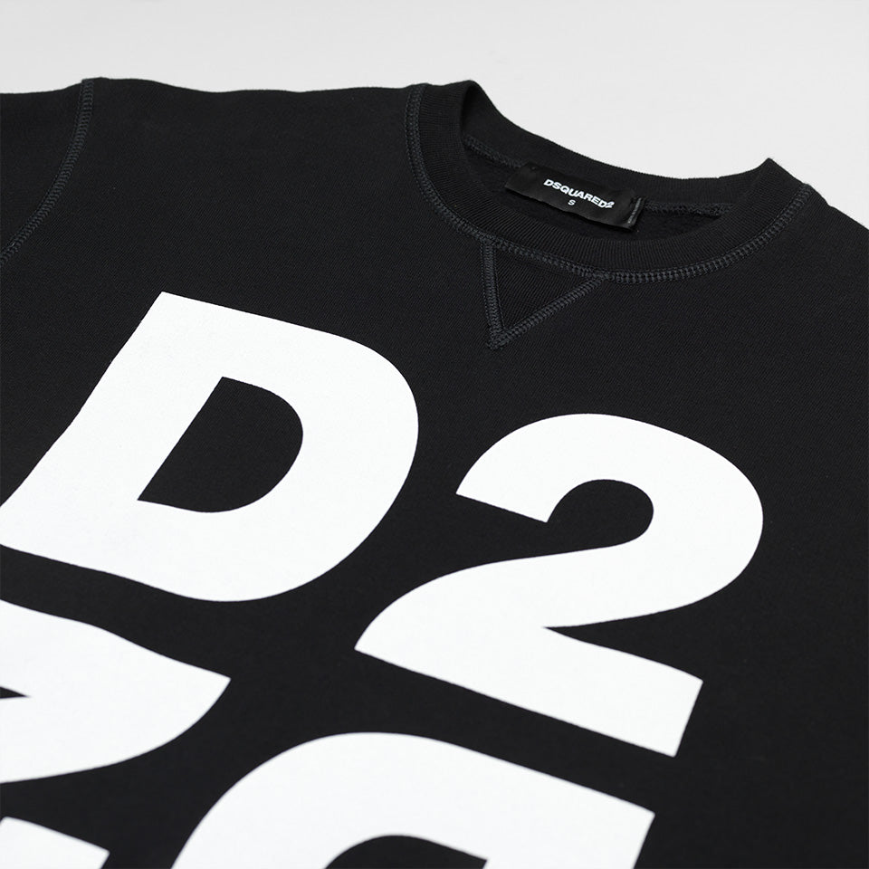 DSQUARED2 DOUBLE D2 SWEATSHIRT BLACK
