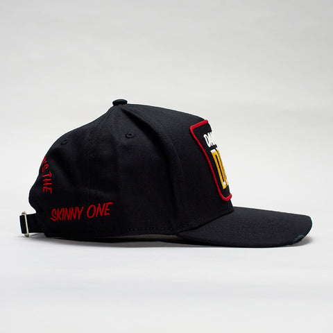 DSQUARED2 DAN I'M NOT DEAN BASEBALL CAP BLACK