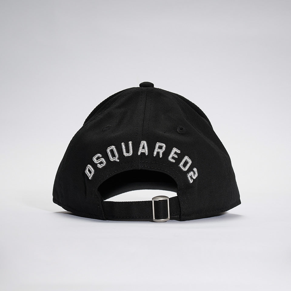 DSQUARED2 ICON LAUREL WREATH BASEBALL CAP BLACK