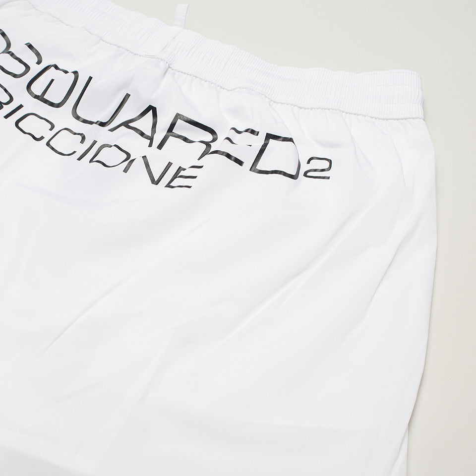 DSQUARED2 MILANO SWIM SHORTS WHITE