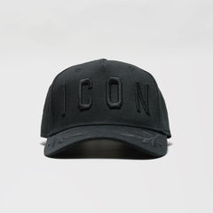 DSQUARED2 EMBROIDERED ICON BASEBALL CAP BLACK/BLACK