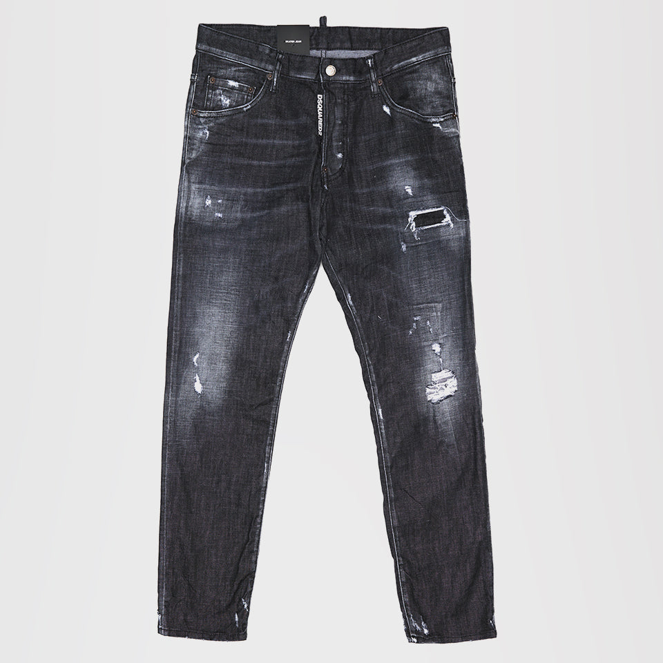 DSQUARED2 DISTRESSED SKATER DENIM SKINNY BLACK