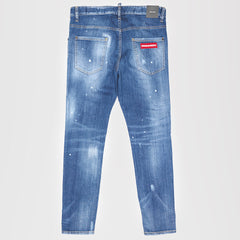 DSQUARED2 RIPPED SKATER DENIM SKINNY JEANS