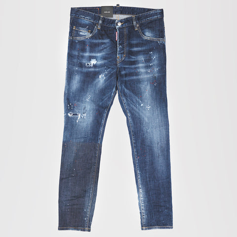 DSQUARED2 PAINT SKATER DENIM SKINNY JEANS