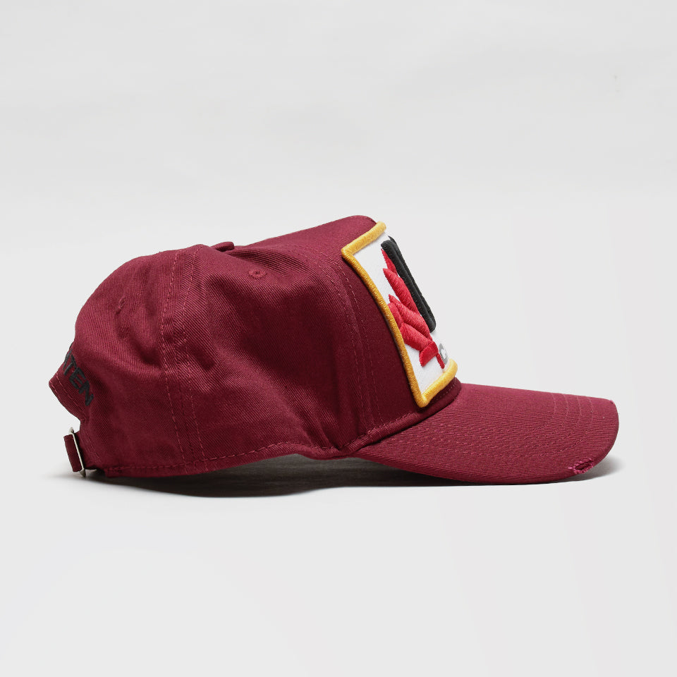 DSQ2 PATCH EMBROIDERED BASEBALL CAP RED