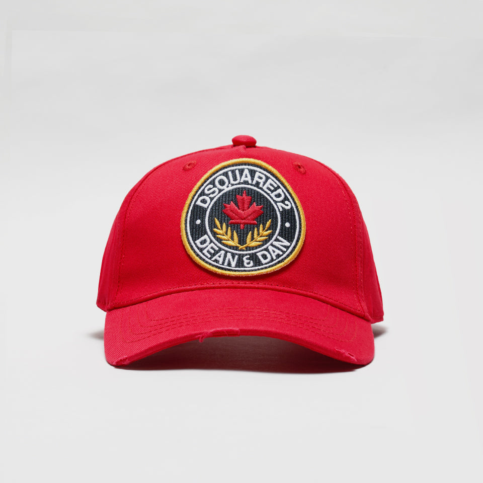 DSQUARED2 DEAN & DAN BASEBALL CAP RED