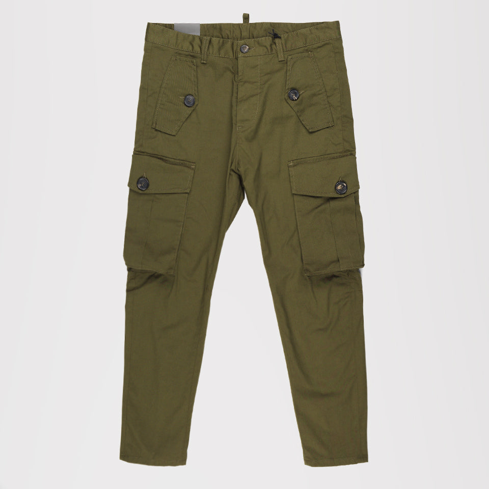 DSQUARED2 CLASSIC CARGO TROUSERS KHAKI GREEN