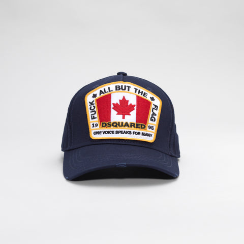 DSQUARED2 FLAG PATCH BASEBALL CAP BLUE
