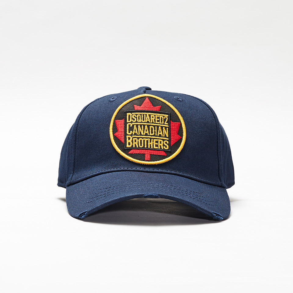 DSQUARED2 LOGO PATCH BASEBALL CAP NAVY