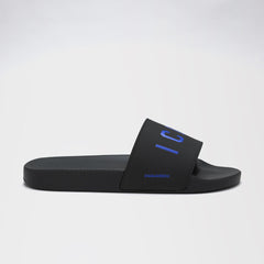 DSQUARED2 ICON POOL SLIDES BLACK/BLUE
