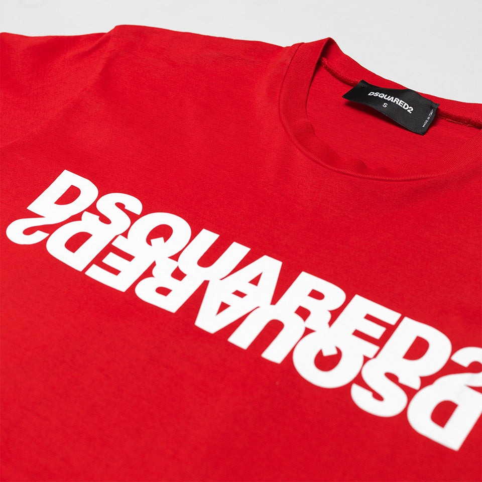 DSQUARED2 DOUBLE LOGO T-SHIRT RED